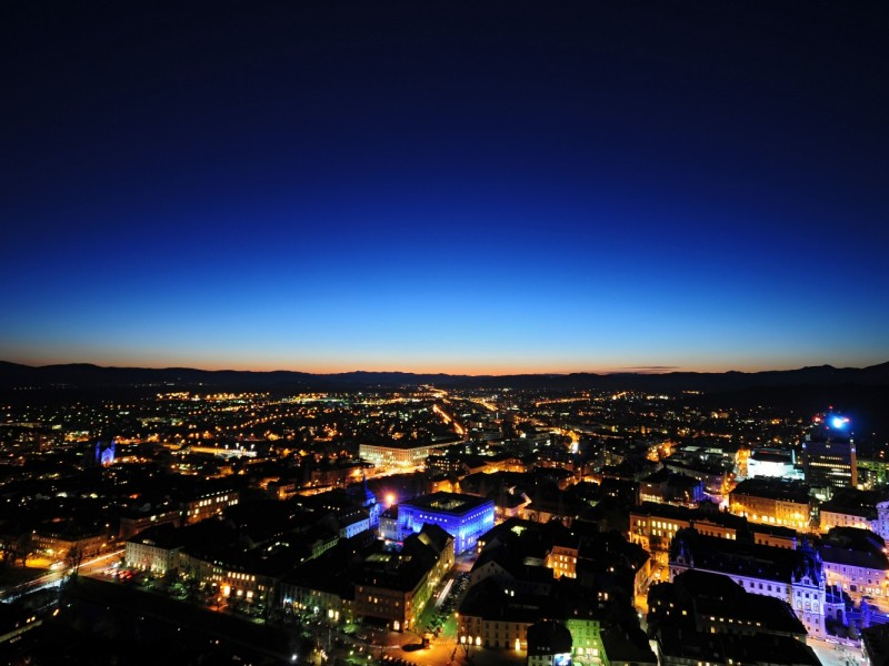 Ljubljana at night (Source: www.visitljubljana.com, D. Wedam)
